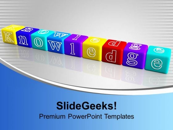 3d Dices Combined To Form Word Knowledge Future PowerPoint Templates Ppt Backgrounds For Slides 1112