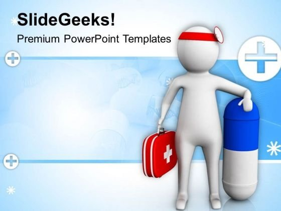 3d Doctor With Capsule PowerPoint Templates Ppt Backgrounds For Slides 0813