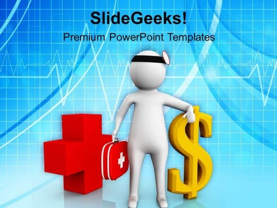 3d Doctor With Dollar Sign PowerPoint Templates Ppt Backgrounds For Slides 0813