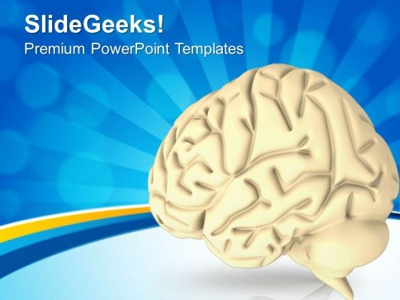 3d Graphics Of Human Brain PowerPoint Templates Ppt Backgrounds For Slides 0613