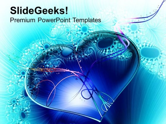 3d Heart For Science Theme PowerPoint Templates Ppt Backgrounds For Slides 0513