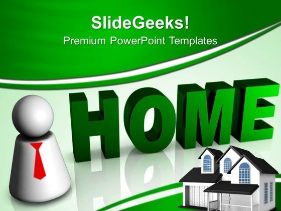 3d Home Business PowerPoint Templates And PowerPoint Themes 0812