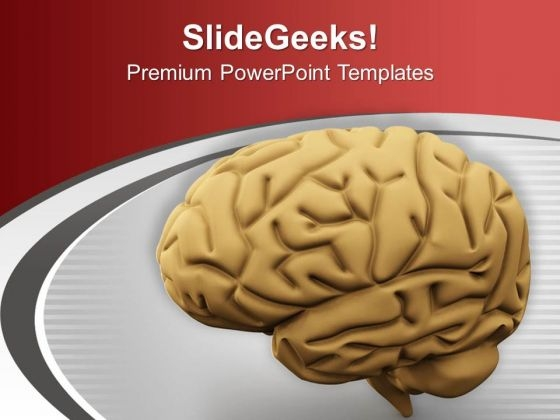 3d Human Brain From The Side PowerPoint Templates Ppt Backgrounds For Slides 0713