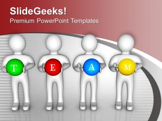 3d Human With Word Team PowerPoint Templates Ppt Backgrounds For Slides 0713