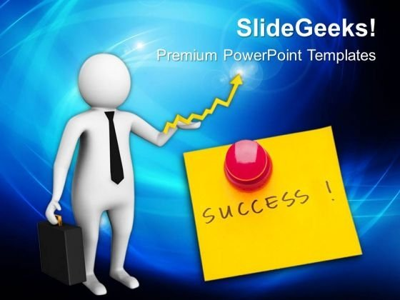 3d Illustration For Concept Of Success PowerPoint Templates Ppt Backgrounds For Slides 0813