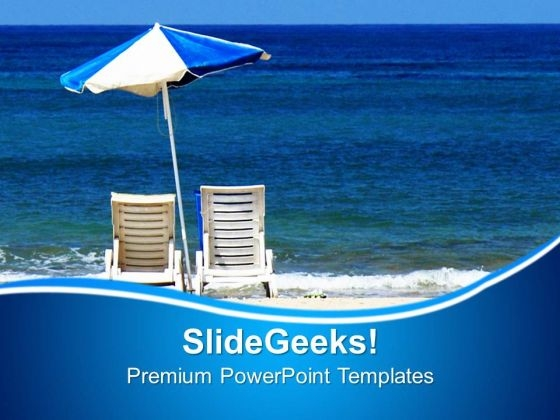 3d Illustration Of Beach Beauty PowerPoint Templates Ppt Backgrounds For Slides 0213