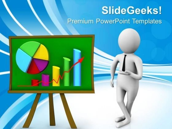 3d Illustration Of Business Progress Report PowerPoint Templates Ppt Backgrounds For Slides 0713