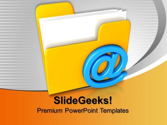 3d Illustration Of Mail Folder Symbols PowerPoint Templates And PowerPoint Themes 0912