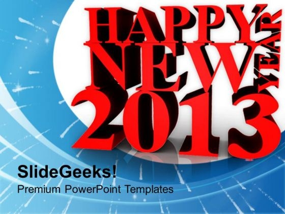 3d Illustration Of New Year Business PowerPoint Templates Ppt Backgrounds For Slides 1212