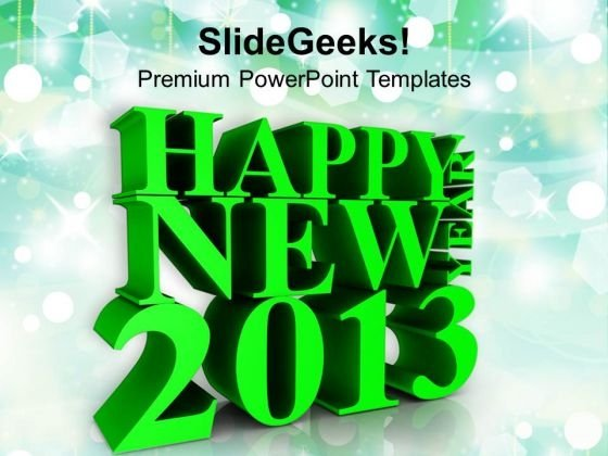 3d Illustration Of New Year Festival PowerPoint Templates Ppt Backgrounds For Slides 1212