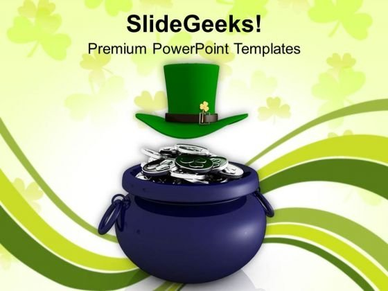 3d Illustration Of St Patricks Day PowerPoint Templates Ppt Backgrounds For Slides 0313