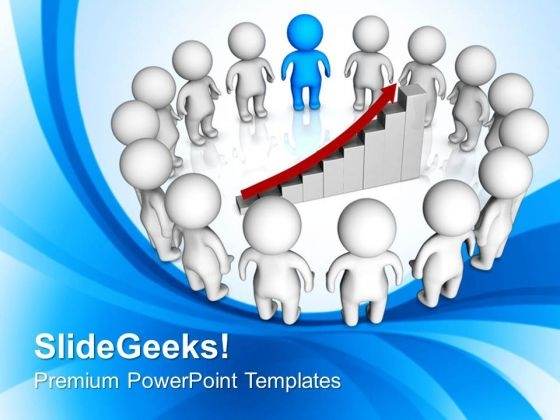 3d Illustration Of Team Meeting PowerPoint Templates Ppt Backgrounds For Slides 0813