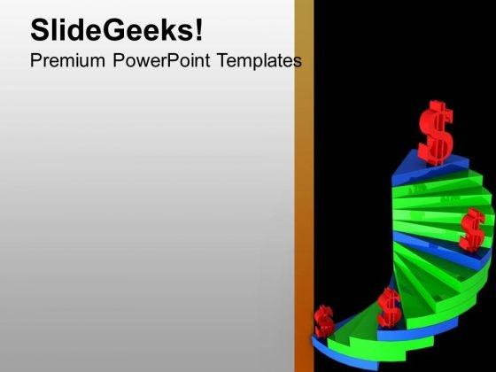 3d Illustration Raising Dollar PowerPoint Templates Ppt Backgrounds For Slides 0213