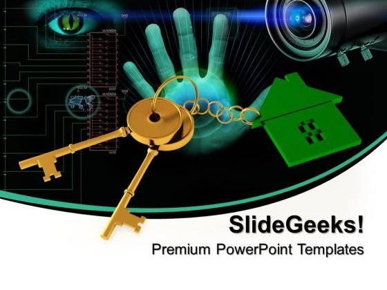 3d Image Home Key Security Success PowerPoint Templates And PowerPoint Themes 0912
