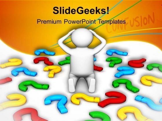 3d Image Of Confused Man PowerPoint Templates Ppt Backgrounds For Slides 0813