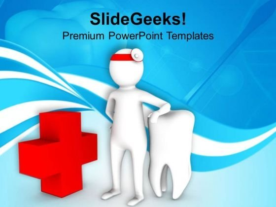 3d Image Of Dentist PowerPoint Templates Ppt Backgrounds For Slides 0813