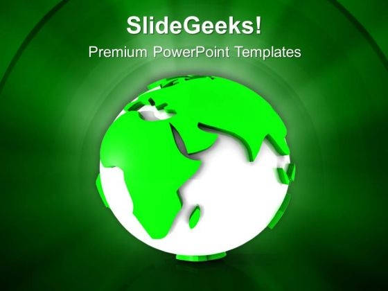 3d Image Of Green Earth PowerPoint Templates Ppt Backgrounds For Slides 0813