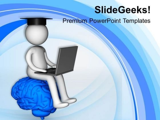 3d Image Of Man On Brain PowerPoint Templates Ppt Backgrounds For Slides 0813