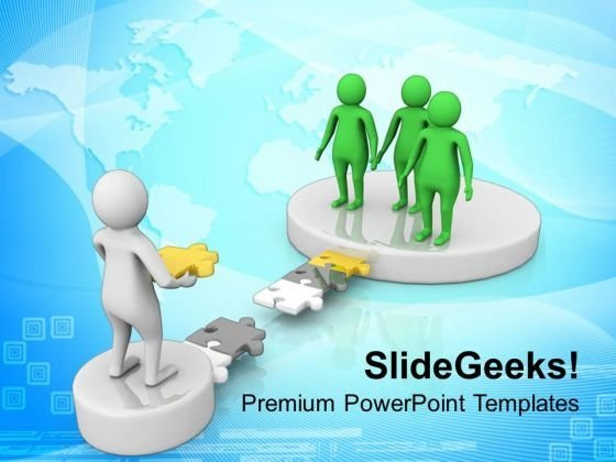3d Image Of Man With His Team PowerPoint Templates Ppt Backgrounds For Slides 0813