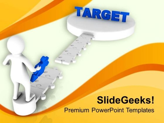 3d Image Of Puzzle Target PowerPoint Templates Ppt Backgrounds For Slides 0713