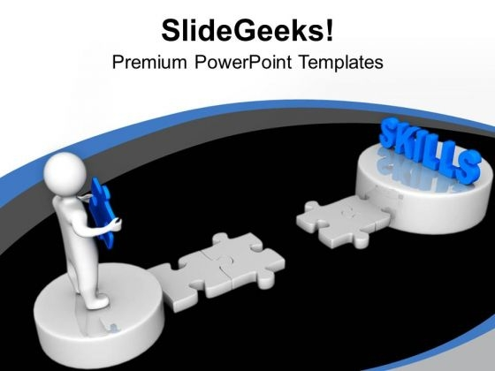 3d Man And Skills PowerPoint Templates Ppt Backgrounds For Slides 0213