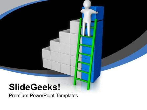 3d Man Arranging Cubes Bar Graph Business PowerPoint Templates Ppt Backgrounds For Slides 0213