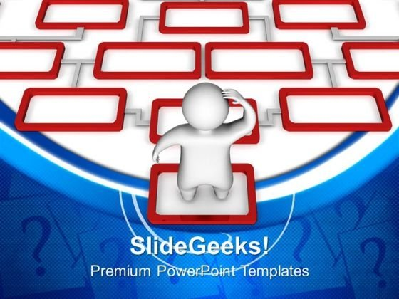 3d Man Confused Business PowerPoint Templates And PowerPoint Themes 0712