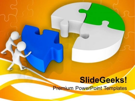 3d Man Fixing Puzzle Solution PowerPoint Templates Ppt Backgrounds For Slides 0813