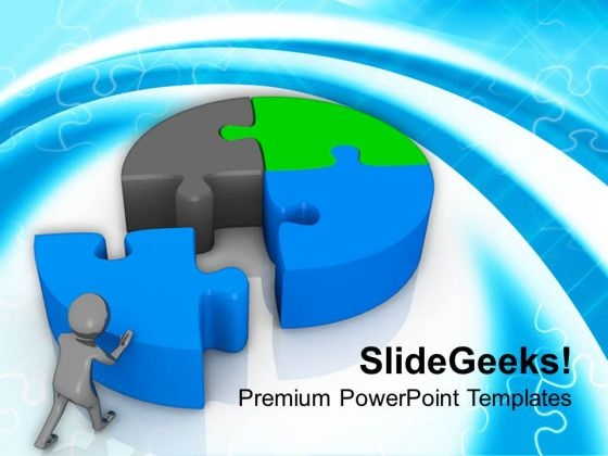 3d Man Fixing Round Puzzle PowerPoint Templates Ppt Backgrounds For Slides 0813