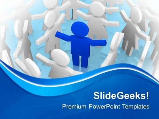 3d Man Leader And Team Members PowerPoint Templates Ppt Backgrounds For Slides 0713
