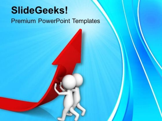 3d Man Lifting Red Arrow PowerPoint Templates Ppt Backgrounds For Slides 0813