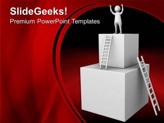 3d Man On Top Of The Boxes PowerPoint Templates Ppt Backgrounds For Slides 0713