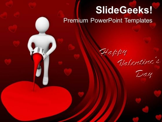 3d Man Painting The Heart Creativity Powerpoint Templates Ppt