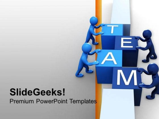 3d Man Team Teamwrok PowerPoint Templates Ppt Backgrounds For Slides 0413