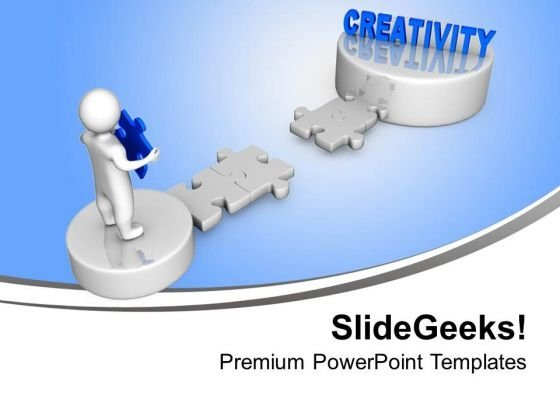 3d Man With Creativity Puzzle Business PowerPoint Templates Ppt Background For Slides 1112