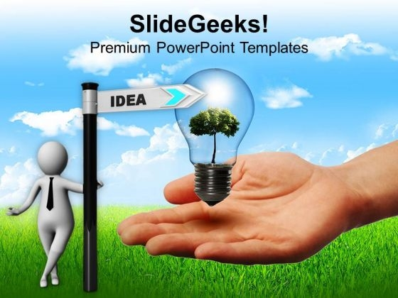 3d Man With Directional Sign Idea Business PowerPoint Templates Ppt Backgrounds For Slides 0713