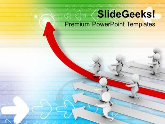 3d Man With Growth Arrow Business PowerPoint Templates Ppt Backgrounds For Slides 0413