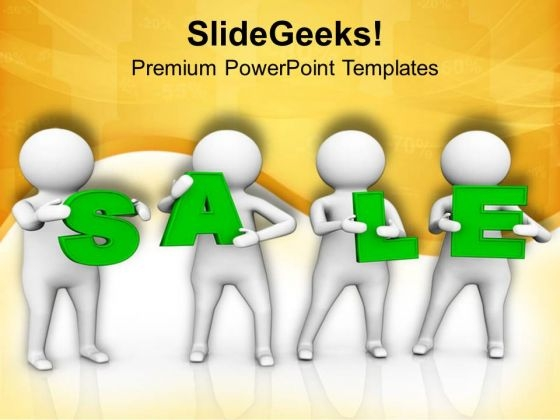 3d Man With Sale Text PowerPoint Templates Ppt Backgrounds For Slides 0813