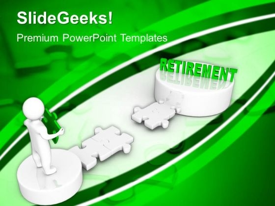 3d Man With Word Retirement Business PowerPoint Templates And PowerPoint Themes 1012