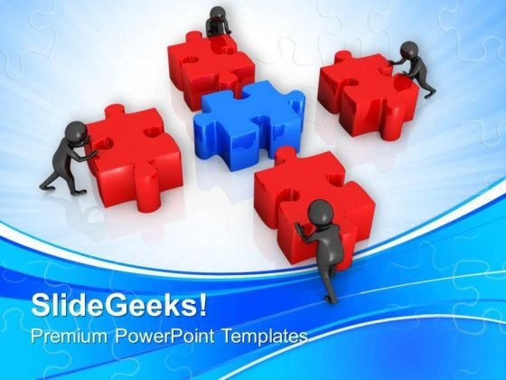 3d Men Assembling Colored Puzzle PowerPoint Templates Ppt Backgrounds For Slides 0813