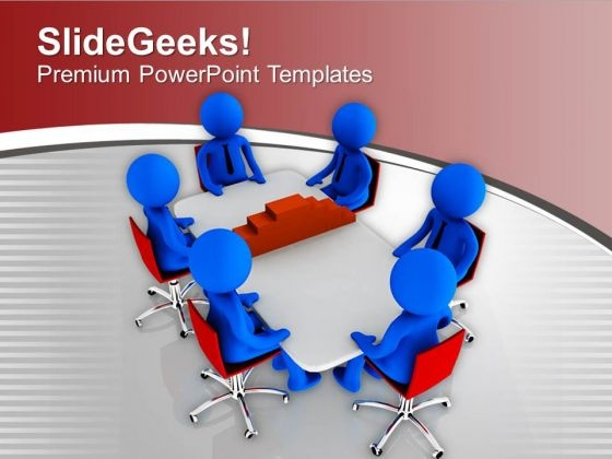 3d Men Discussing On Construction PowerPoint Templates Ppt Backgrounds For Slides 0213