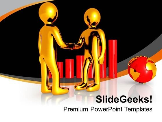 3d Men Handshake Isolated On Business PowerPoint Templates Ppt Backgrounds For Slides 0213