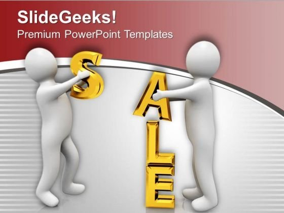 3d Men Holding The Word Sale PowerPoint Templates Ppt Backgrounds For Slides 0713