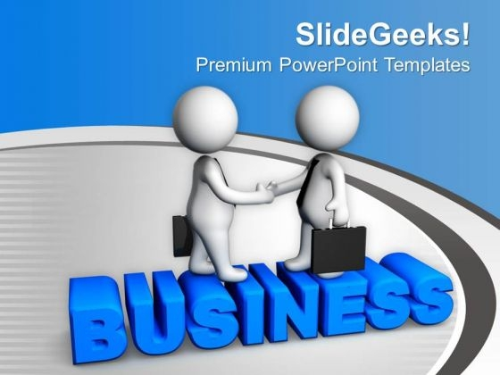 3d Men Making Business Deal PowerPoint Templates Ppt Backgrounds For Slides 0713