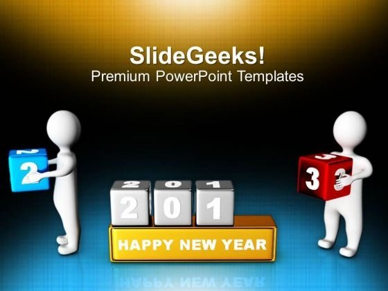 3d Men Placing Cubes 2013 PowerPoint Templates Ppt Backgrounds For Slides 1212