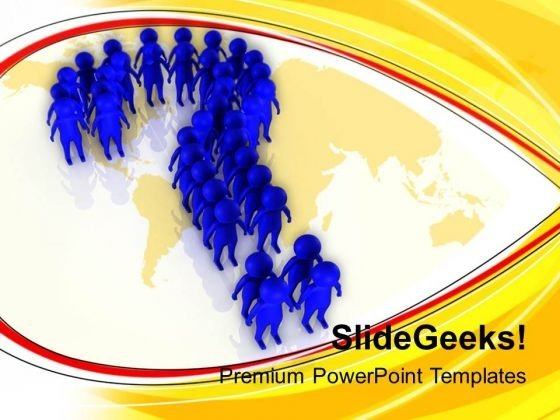 3d Men Standing In Questionmark Shape PowerPoint Templates Ppt Backgrounds For Slides 0813