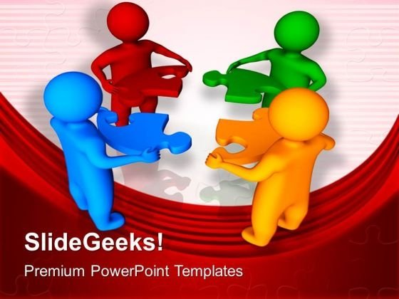 3d Men With Jigsaw Puzzle Pieces Business PowerPoint Templates And PowerPoint Themes 1112