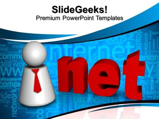 3d Net Internet PowerPoint Templates And PowerPoint Themes 0812