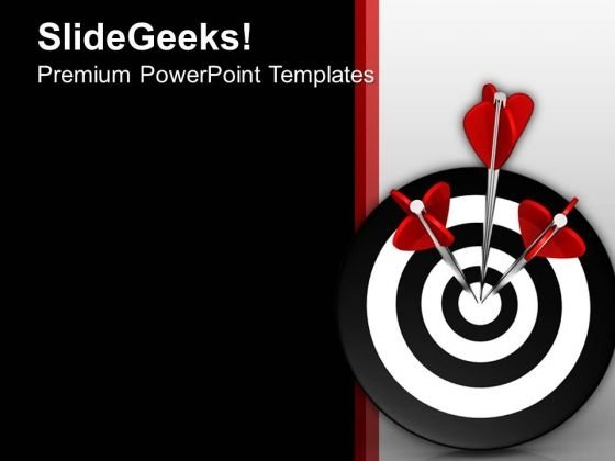 3d Of Three Arrows In Target PowerPoint Templates Ppt Backgrounds For Slides 0413