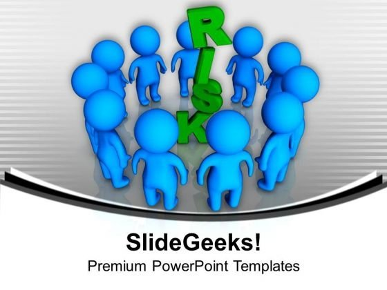 3d People Around Risk Business Concept PowerPoint Templates Ppt Background For Slides 1112